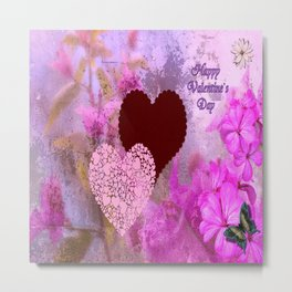 Happy Valentine`s Day Metal Print