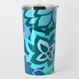 CAMBRIA, ART DECO FLORALS: TRENDY TURQUOISE Travel Mug