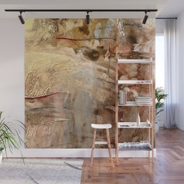 Dissolving // acrylic abstract modern painting Wall Mural