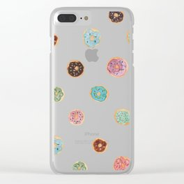 Sprinkled Donut Pattern Clear iPhone Case