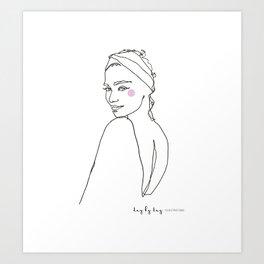 Bohemian girl in fashion model boho Art Print