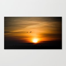 Sunset Silhuettes Canvas Print