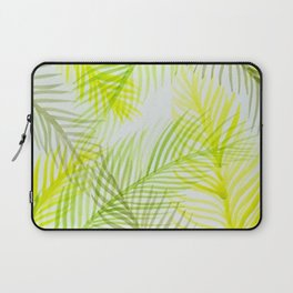 Painted Palm Fronds Laptop Sleeve