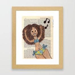 Natural Beach Girl Framed Art Print