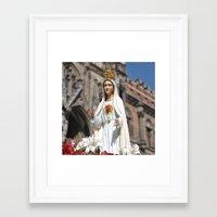 madonna Framed Art Prints featuring Madonna by Frau Fruechtnicht