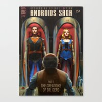 Canvas Prints featuring Androids Saga - The Creations of Dr Gero by Astor Alexander