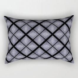 Deep Blue Diamond Mosaic Tile Design Rectangular Pillow