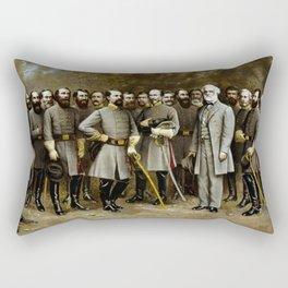 Robert E. Lee and His Generals Rectangular Pillow