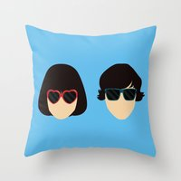 submarine Throw Pillows featuring Submarine by Loverly Prints
