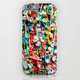 Gum Wall was once cleaned, then this happened. iPhone Case