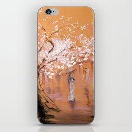 Walk under the rain iPhone Skin