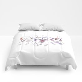 watercolor dogs Comforters