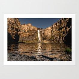 Desert Waterfall - Summer In Palouse Art Print