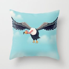 Friendly Vulture Throw Pillow
