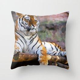 Regal Tiger Throw Pillow