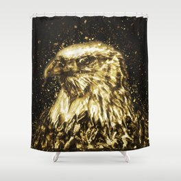 Golden American Eagle Shower Curtain