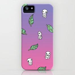 Moonrise Kodama Pattern iPhone Case
