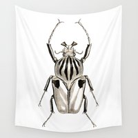 insect Wall Tapestries featuring INSECT №6 by Reel Feel