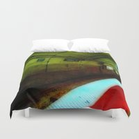 subway Duvet Covers featuring Subway Tunnel by Litew8