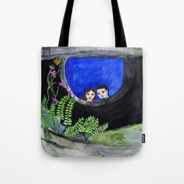 The Well of Wishes, an illustration by Ines Zgonc Tote Bag