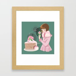 Rose Chiffon Cake Framed Art Print