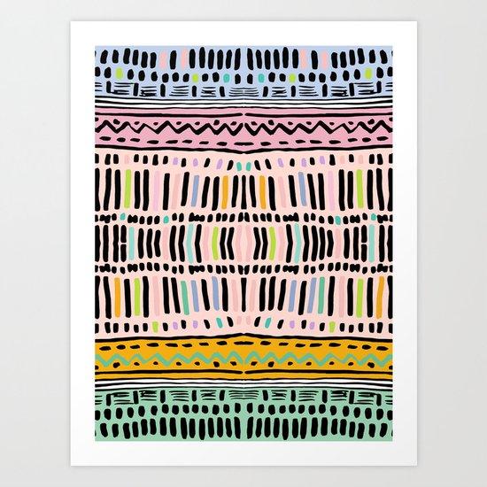 NAVAJO MOTIF  Art Print