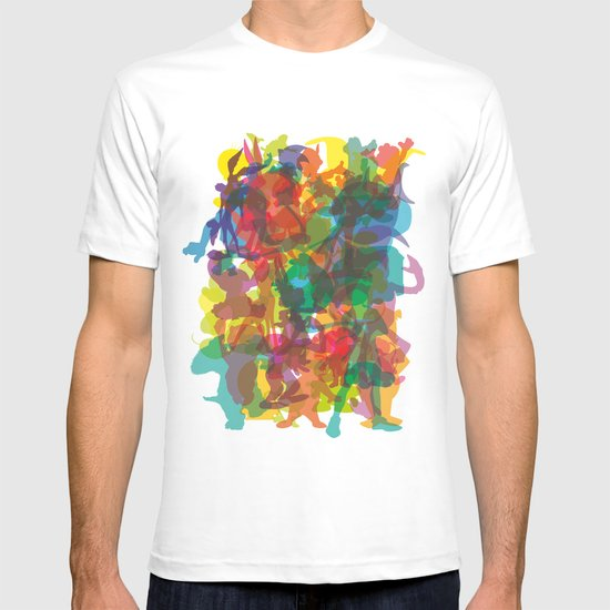 50 famous characters (solid) T-shirt