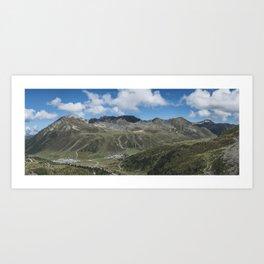 Alpine Panorama // Kühtai Glacier // Austria Art Print