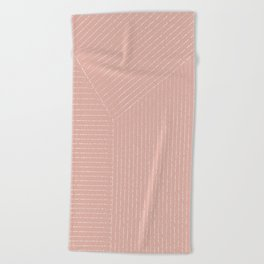 Lines (Blush Pink) Beach Towel