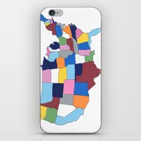 usa iPhone & iPod Skins featuring USA by Project M