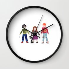 Harry, Hermione, and Ron Wall Clock