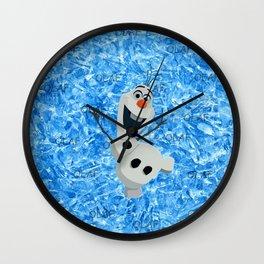 Olaf Snow Wall Clock