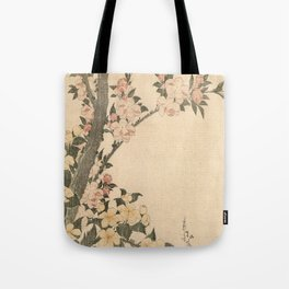Hokusai, flowers of a cherry-tree- manga, japan,hokusai,japanese,北斎,ミュージシャン Tote Bag