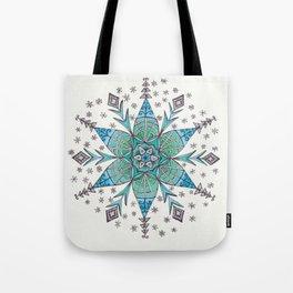 Snowflake Mandala Tote Bag