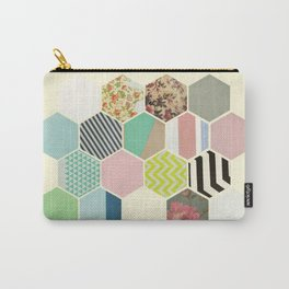 Florals and Stripes Carry-All Pouch