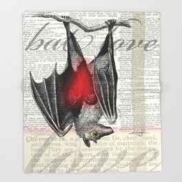 Bat Love by Kathy Morton Stanion Throw Blanket