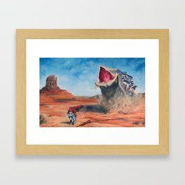 Motorcycle Escape Framed Art Print