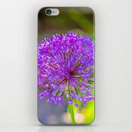 Purple + Blue Flower iPhone Skin