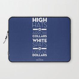 One Hit Wonder- Puttin' on the Ritz, Royal Blue Laptop Sleeve