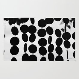 Black and White Circles Rug