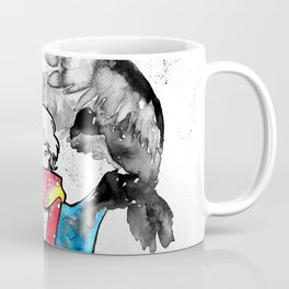 Manga character with landscape clothes and eagles Coffee Mug