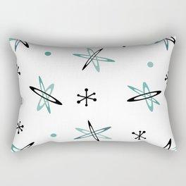 Atomic Era Space Age Teal Black White Rectangular Pillow