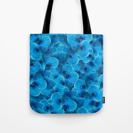 Midnight Pacific Blue Orchids Tote Bag