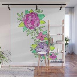 Peonies  Watercolor Wall Mural