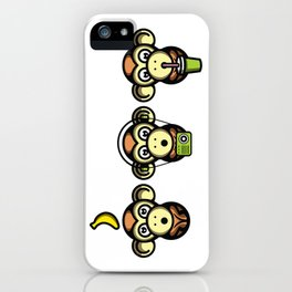 Wiser Monkeys iPhone Case