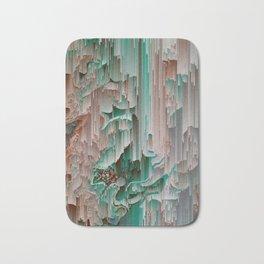 Teal Abstract Digital Waterfall Bath Mat