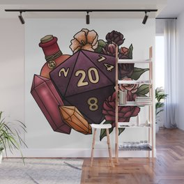 Sorcerer Class D20 - Tabletop Gaming Dice Wall Mural