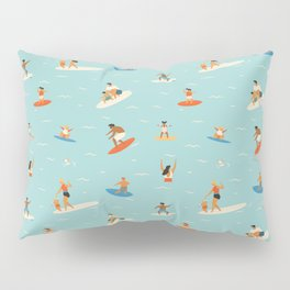 Surfing kids Pillow Sham