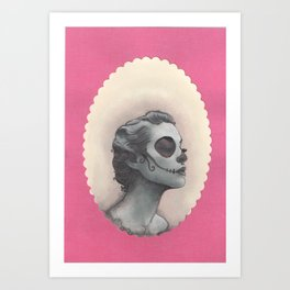 dia de los muertos portrait Art Print