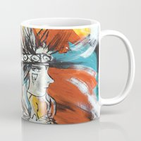 indian Mugs featuring Indian by ketizoloto